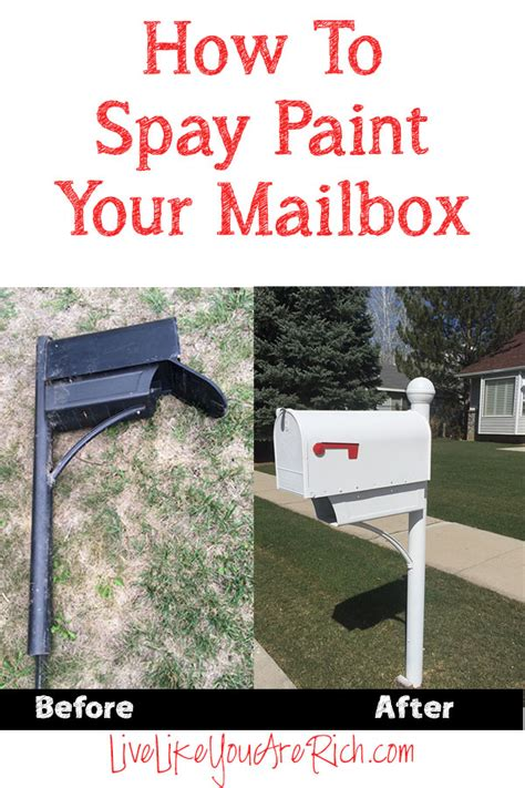 how to spray paint a mailbox live like you are rich