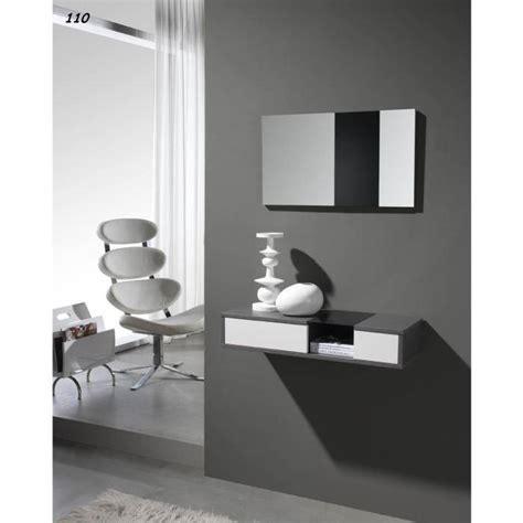 console avec miroir 01 10 cendr 233 blanc achat vente console console avec miroir