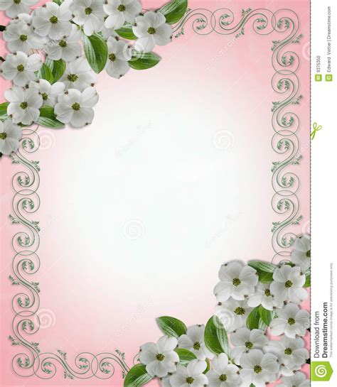 cadre de cornouiller d invitation de mariage photo stock image 9375350