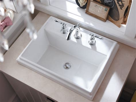kohler k 2991 8 0 tresham rectangle self bathroom sink with 8 inch widespread faucet