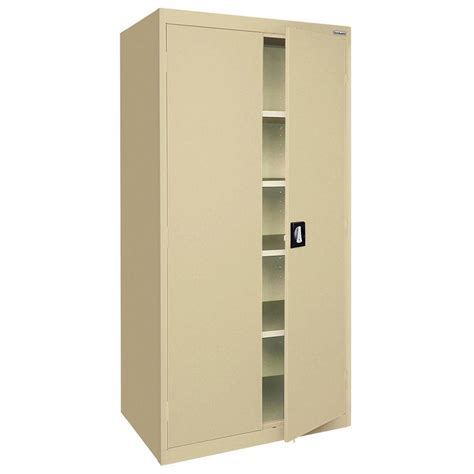 sandusky elite series 72 in h x 36 in w x 18 in d 5 shelf steel recessed handle storage