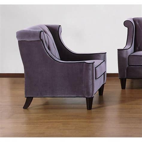 armen living barrister velvet tufted chair in gray