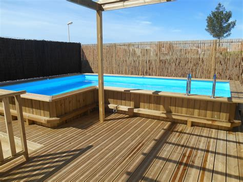 cr 233 ation piscine sur mesure en bois bluewood 224 poussan