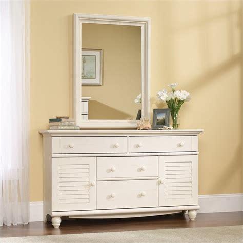 sauder harbor view mirror set antiqued white dresser ebay