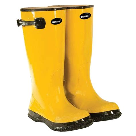 Rubber Boots Home Depot by Enguard Men S Size 14 Yellow Rubber Slush Boots Egsb 14