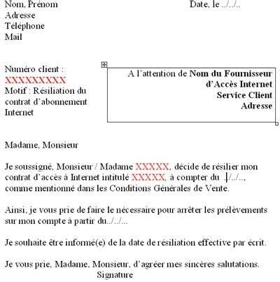 la lettre de r 233 siliation en question