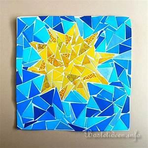 Basteln Mit Mosaiksteinen : basteln im sommer mit kindern papier mosaik bild mit sonne ~ Whattoseeinmadrid.com Haus und Dekorationen