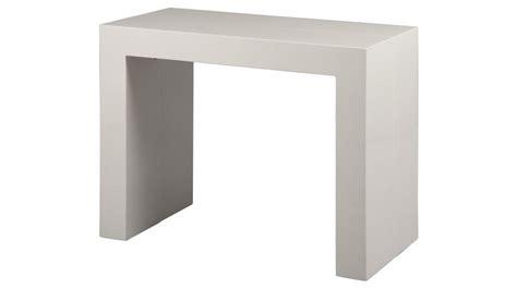 console extensible blanc laqu 233 3 allonges console design pas cher