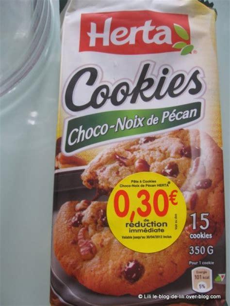 herta d 233 couverte des cookies choco noix de p 233 can et de charcuterie le de lili
