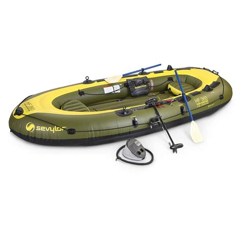 Inflatable Boat With Motor by Sevylor Fish Hunter Inflatable Boat Kit 206714 Boats At
