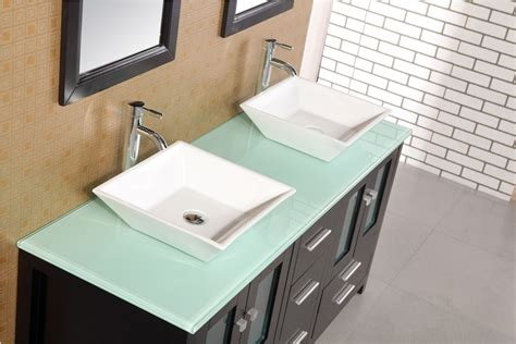 adorna 61 quot sink bathroom vanity set solid wood cabine listvanities