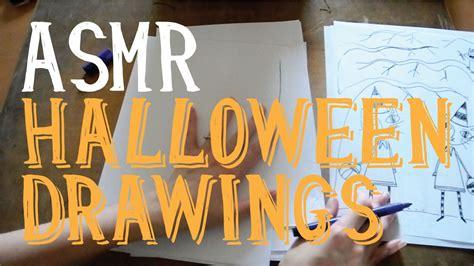 Asmr Halloween Drawings  Pen  No Talking  Little Watermelon Youtube