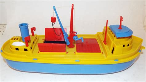 Toy Ships And Boats by Vintage Plastic Toy Boat No Markings Looks Like M