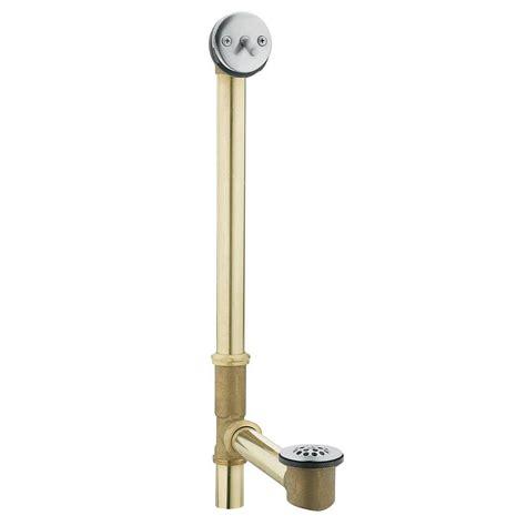 bathtub trip lever drain moen tub drain brass tubing whirlpool with trip lever