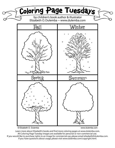 Four Seasons Worksheet For Preschoolers  6 Best Images Of
