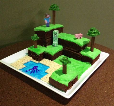 instrctables minecraft world cake recipe and inspiration