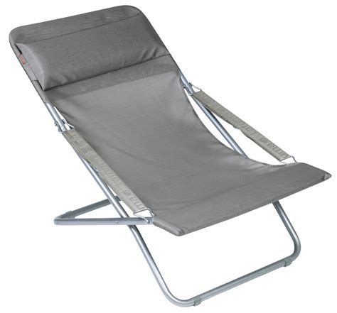 transabed xl reclining chair folding carbon by lafuma