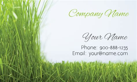 Grass Gardener Business Card