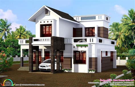 Simple 1524 Sqft House Plan  Kerala Home Design And