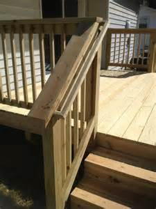 strong stair railing with smooth finish qualis construction