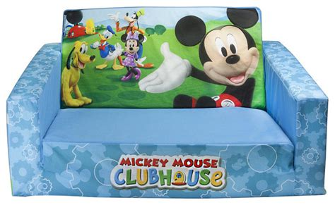 mickey mouse clubhouse flip open sofa with slumber contemporary sofas by toys r us
