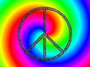Peace Sign unique colorful Bold Poster wall art teens room ...