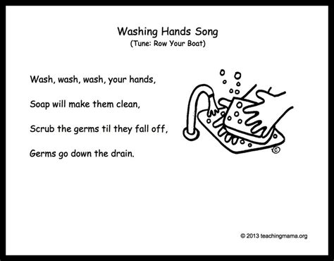 Wash Wash Wash Your Hands Song To Row Row Row Your Boat Lyrics by 10 Preschool Transitions Songs And Chants To Help Your