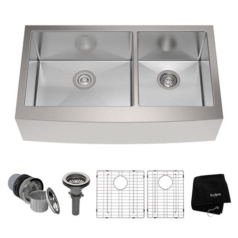 Home Depot Kraus Farmhouse Sink by Kraus Farmhouse Apron Front Stainless Steel 36 In