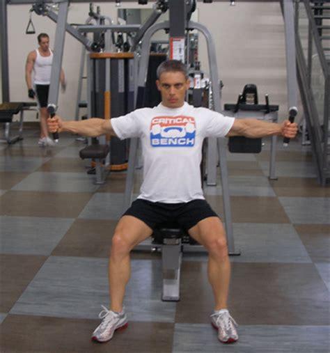 pec deck machine chest exercise