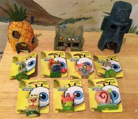 spongebob friends houses 10 pc aquarium set us seller decoration ornaments ebay