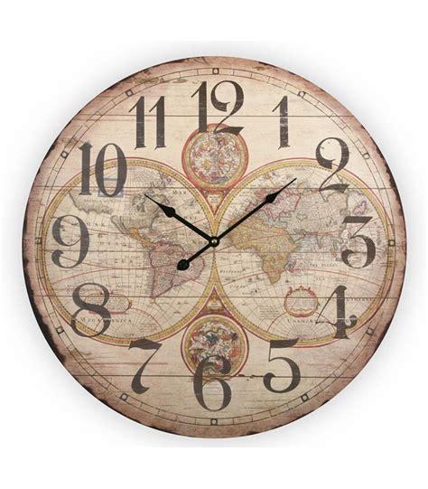 grande horloge murale style ancien en bois maps wadiga