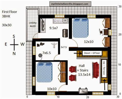 my indian villa 33 r26 3bhk duplex in 30x30