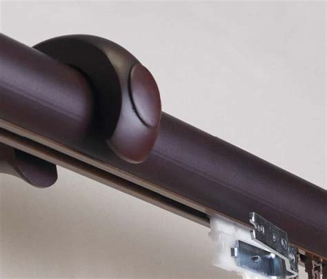 custom 1 3 8 quot plantation wooden traverse curtain rod in 3 finishes available