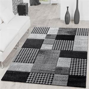 Teppich Wohnzimmer Grau : teppich karo grau anthrazit creme wohnzimmer teppich moderne teppiche ~ Markanthonyermac.com Haus und Dekorationen