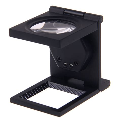 fashion 8x magnifier loupe folding type linen tester magnifying glass led light ebay