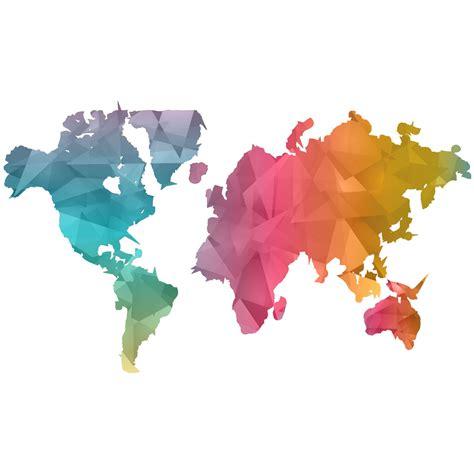 sticker origami carte du monde stickers villes et voyages pays et voyages ambiance sticker