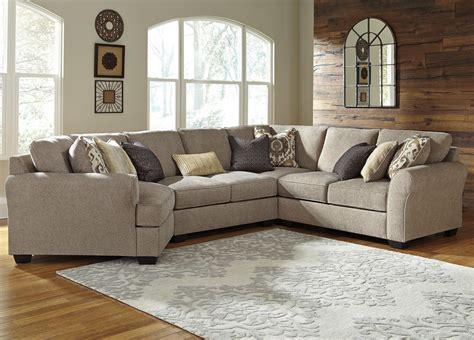 benchcraft pantomine 4 sectional with left cuddler