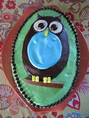 mintagehome adventures in cake decorating the owl cake