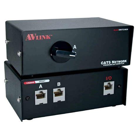 qvs 2 port cat5 rj45 premium manual switch ca284e 2s the home depot