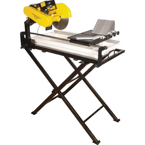 qep 24 in dual speed tile saw 2 hp motor cutting with 10 in continuous