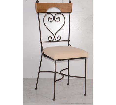 chaise fer forg 233 dossier coeur antique 4331