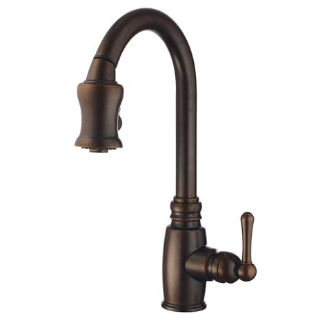 shop danze opulence tumbled bronze 1 handle pull kitchen faucet at lowes