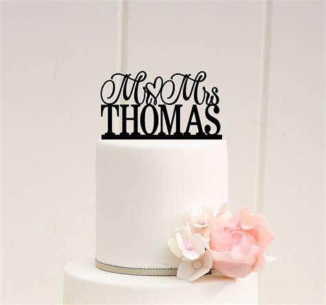 custom cake toppers wedding cake topper scroll mr and mrs topper custom