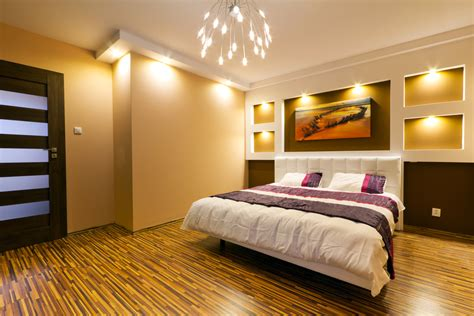 Great Lighting Master Bedroom Design  Interior Design Ideas