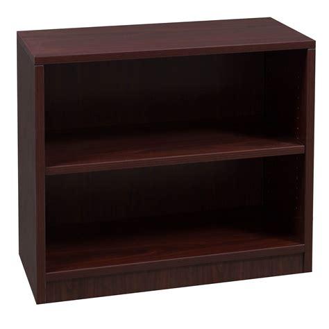 Everyday 30 In 2 Shelf Laminate Bookcase, Mahogany