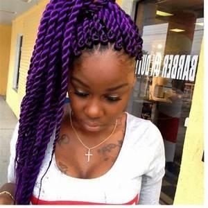 Jumbo Purple Twists | hair ideas | Pinterest | Twists ...