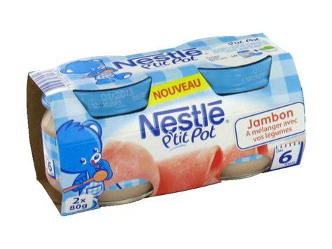 petits pots nestle jambon 6 mois 2x80g tous les produits assiettes petits pots de l 233 gumes