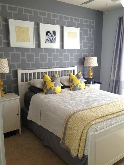 another of grey and yellow bedroom ideas
