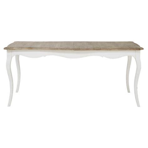 table de salle 224 manger 224 rallonge en manguier blanche l 180 cm versailles maisons du monde
