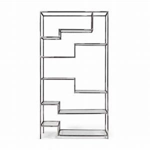 Regal Industrial Design : regal asper aus metall und glas in modernen industrial design notoria ~ Markanthonyermac.com Haus und Dekorationen
